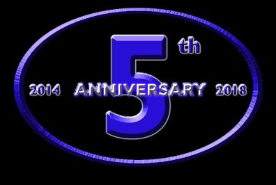 Hunter Burton 5th Anniversary Logo Black Outline